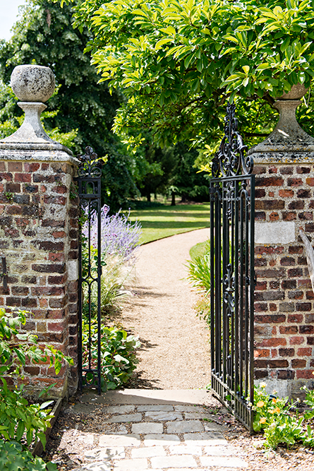 The beautiful gardens at Osterley Park, an 18th century country estate in London.