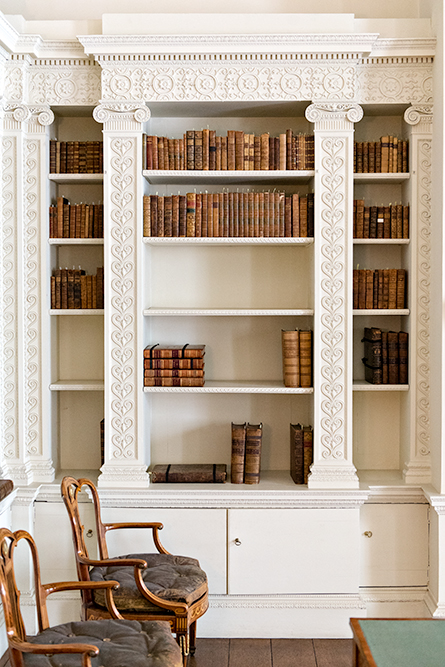 The library at Osterley Park, an 18th century mansion in London