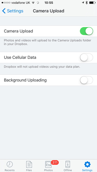 Free up space on your phone with Dropbox and Lightroom