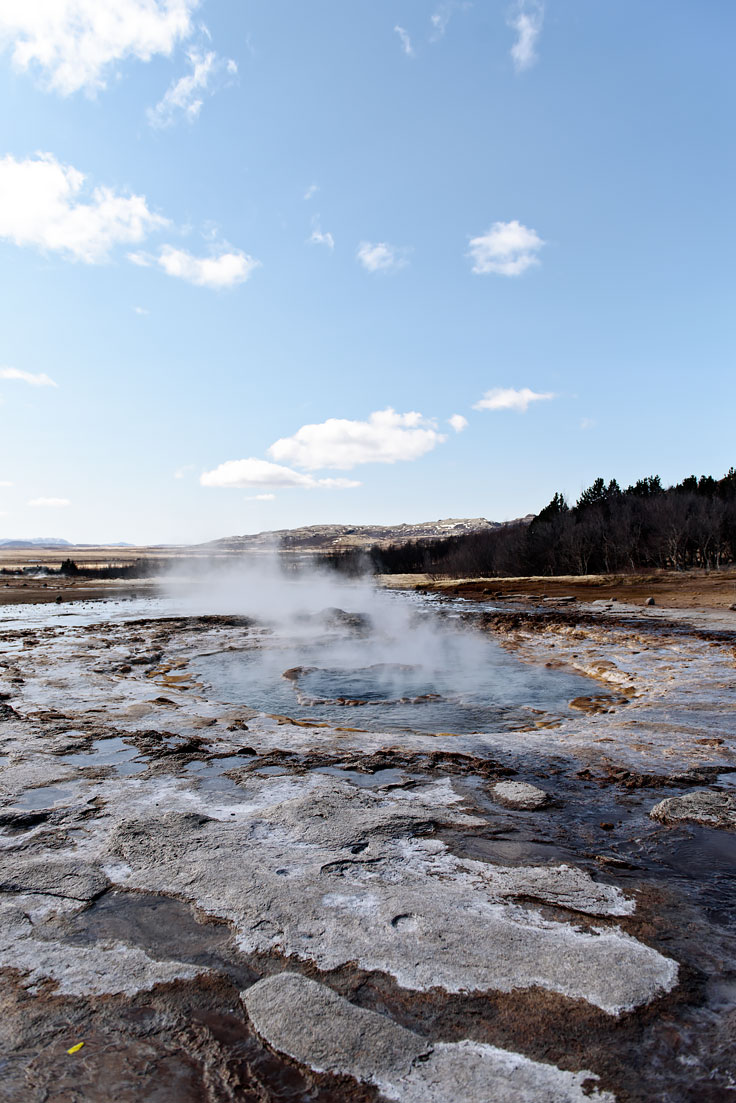 Road Trip in Iceland. The Golden Circle: Geysir