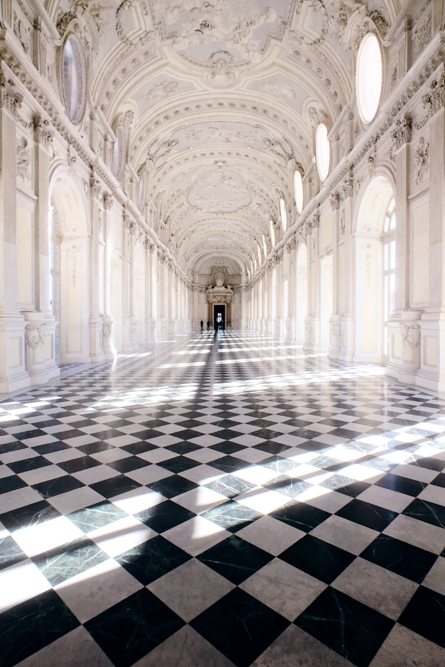The Great Gallery at La Reggia di Venaria Reale - a beautiful palace near Turin. Also known as Italy's Versailles.