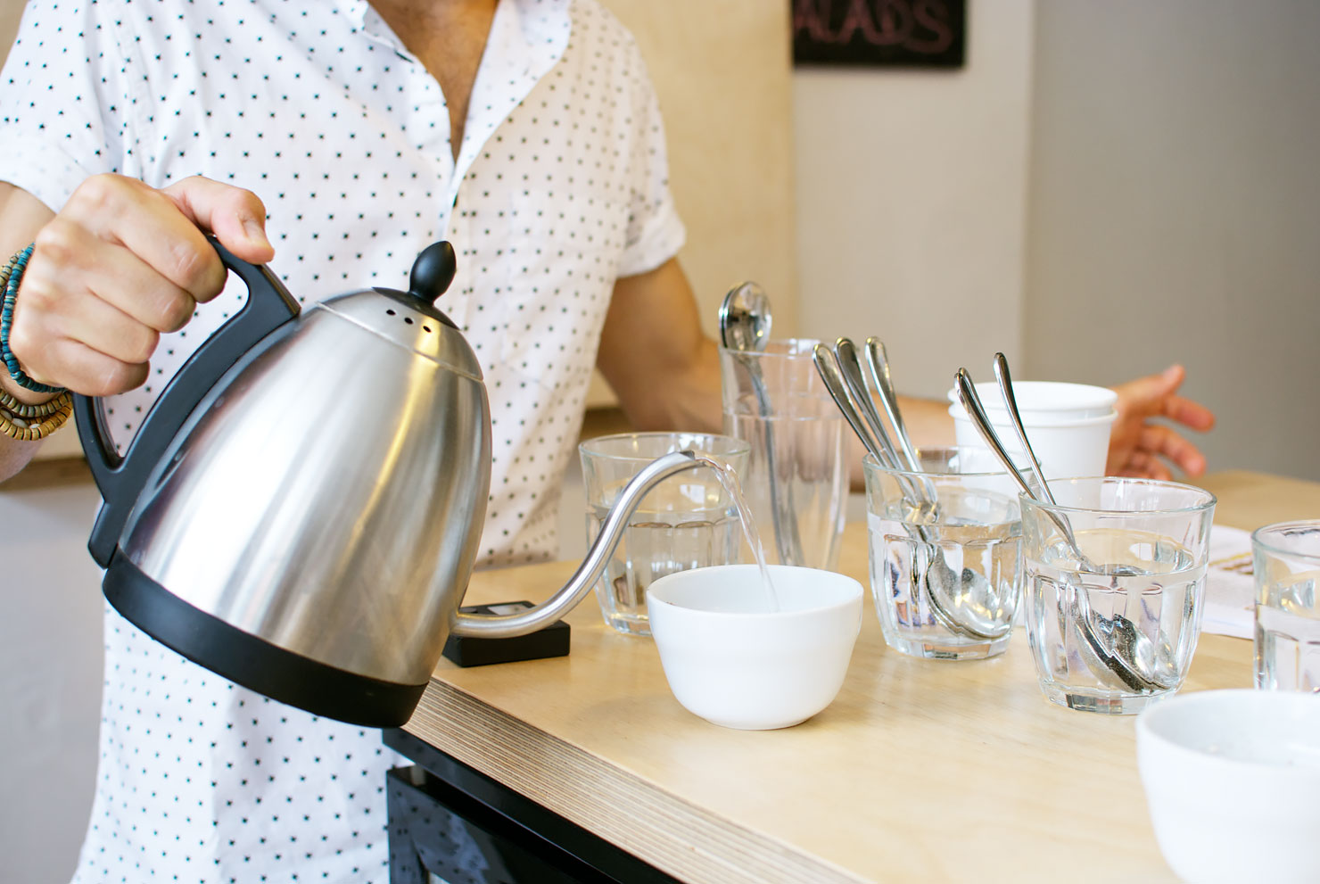 Coffee tasting (or cupping) at Drink, Shop & Dash - a new specialty coffee bar in King