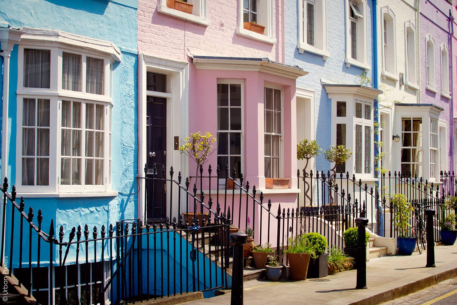 Colourful london houses urban pixxels for House notting hill